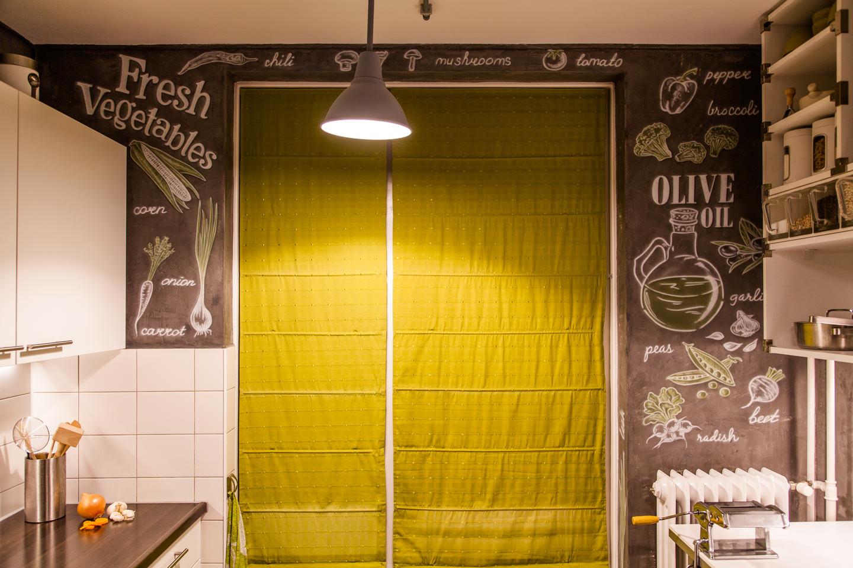 Industrieel beton keuken airbrush muurschildering, Zeer exclusief en trending!