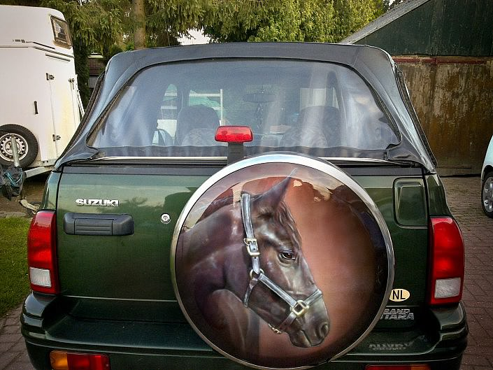 Wheelcover paard