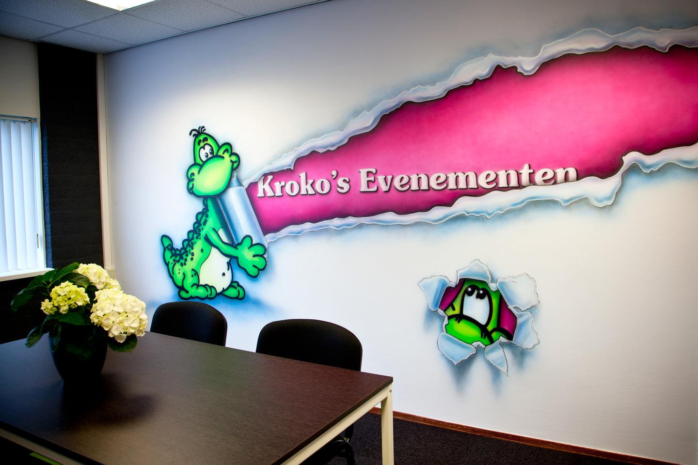 muurschildering Kroko's evenementen ontvangstruimte