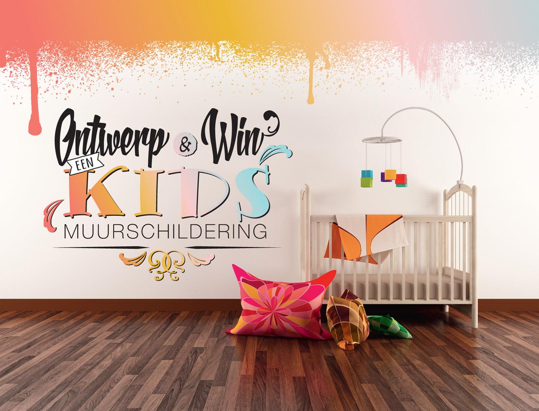 Ontwerp, win, gratis, muurschildering, actie, airbrush, R-BRUSH, kinderkamer, kids,