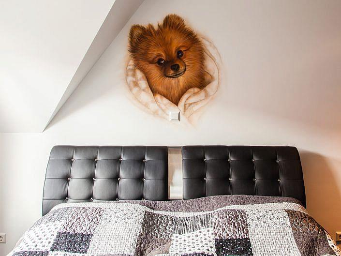 slaapkamer hondje