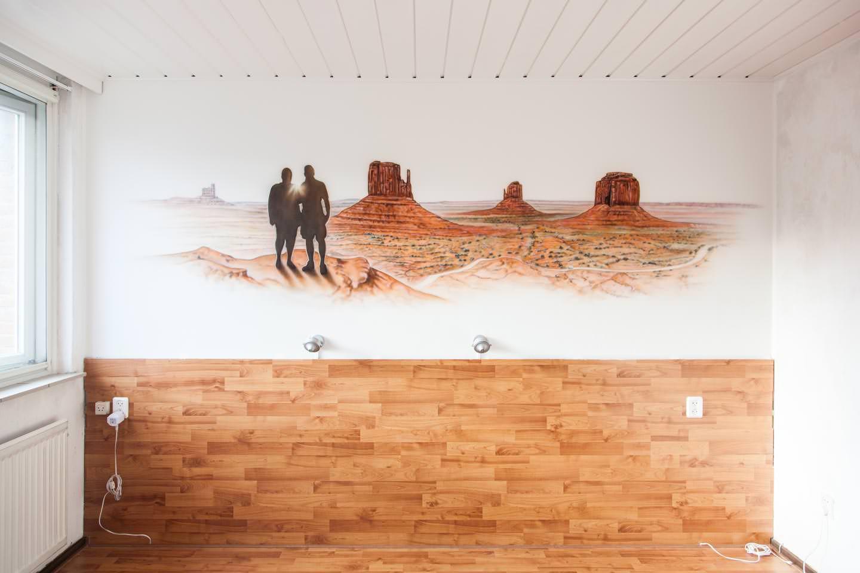 Monument Valley exclusieve slaapkamer muurschildering