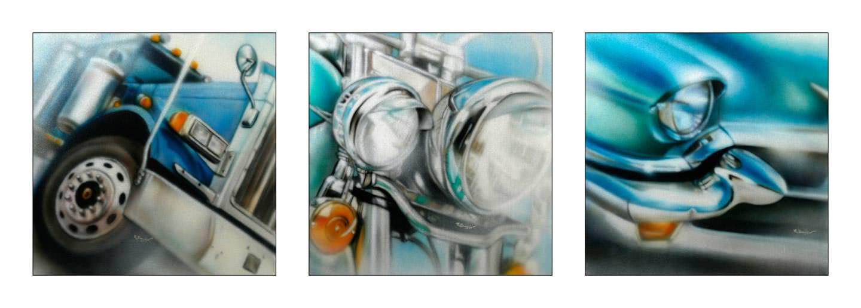 American detailschilderijen op canvas 70x70 cm