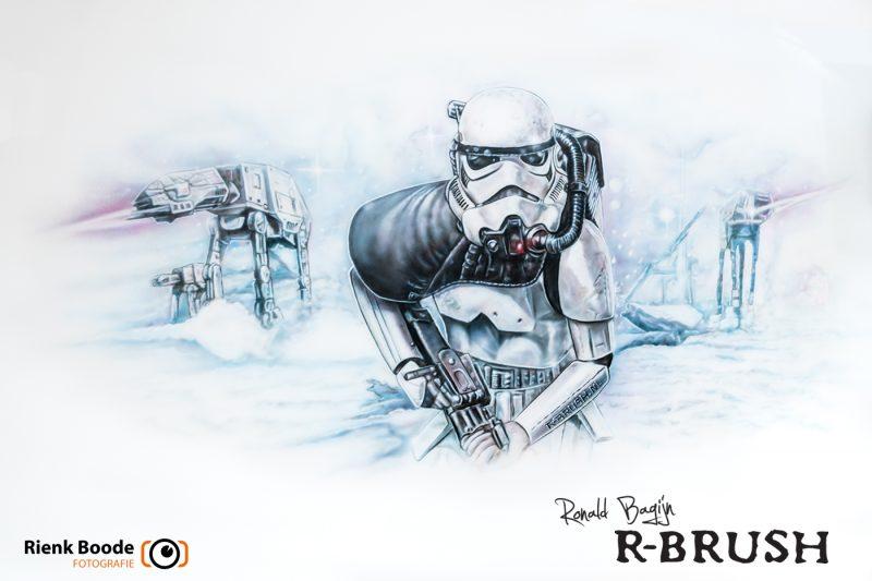 Star Wars muurschildering Ronald Bagijn