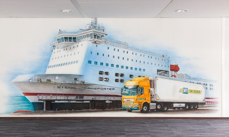 De Rijke transport muurschildering Botlek Europort Spijkenisse